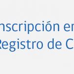 Inscripción en Registro Consultores